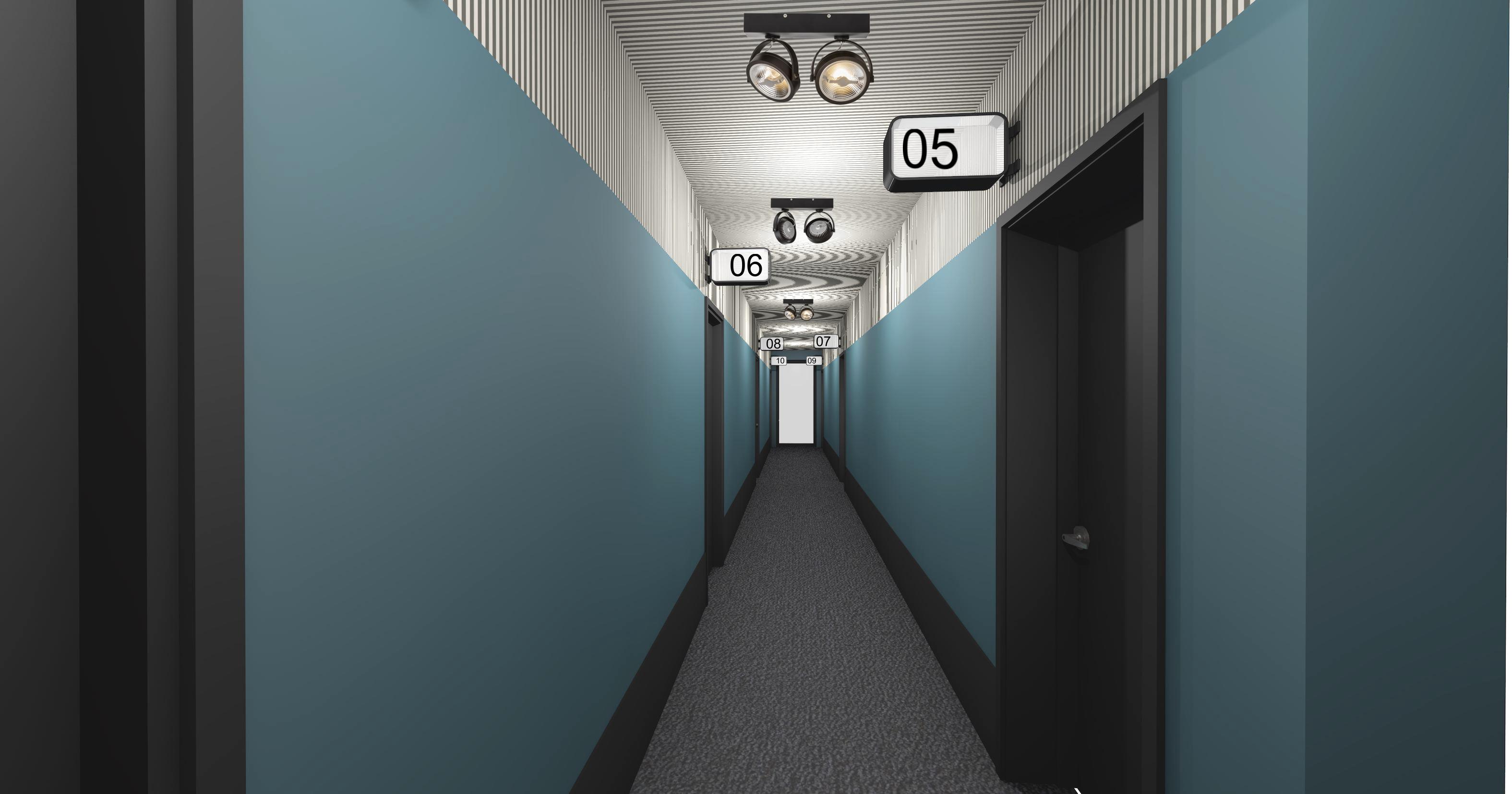 Miss Sophies Downtown corridor
