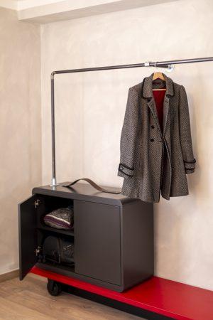 Miss Sophie's Downtown quadruple room's wardrobe