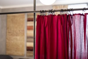 Miss Sophie's Downtown curtains detail
